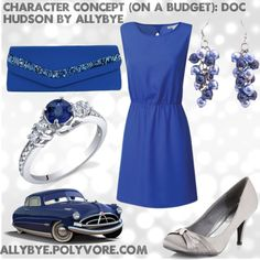 Character Concept (On a Budget): Doc Hudson, created by allybye on Polyvore