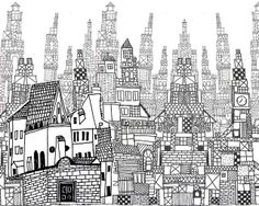 urban pattern by Laura Wennstrom. #art #illustration #pattern #city