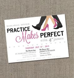 Rehearsal Dinner Invitation 5 X 7  Digital file by EventswithGrace, $25.00