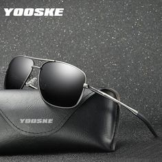 44522aa696a  FASHION  NEW YOOSKE Classic Brand Sunglasses Men Polarized Sun Glasses  Male Outdoor Driving Glasses