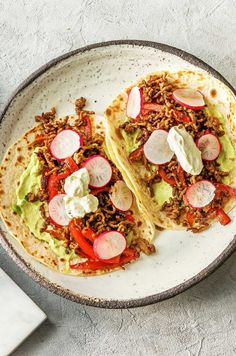 "Smoky beef tacos with guacamole and radishes | Try HelloFresh today with code ""HelloPinterest"" and receive $25 off your first  box."