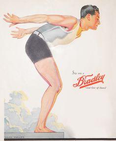 Swimwear, early 1920s. Coles Phillips illustration.