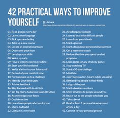 There Are 42 Practical Ways To Improve Yourself