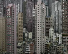 Michael Wolf, Architecture of Density #116, from Architecture of Density, 2008, Chromogenic Print In these Hong Kong pictures, Wolf purges h...