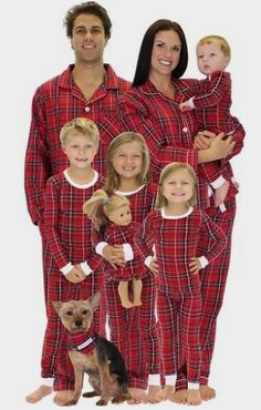 SleepytimePjs Family Matching Red Plaid Flannel Pajamas PJs Sets for the  Family  Clothing Amazon http 270b4a9e1
