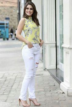 Style Casual, Work Casual, Casual Looks, Casual Wear, Casual Outfits, Cute Fashion, Girl Fashion, Womens Fashion, Frock Fashion
