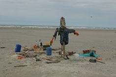 Stilleven op strand Terschelling