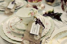 pretty tea trio at a vintage wedding fair