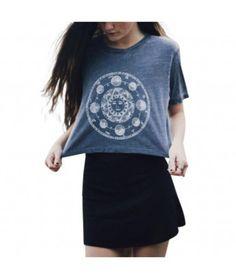 Top: moon, grey, hip, hipster, crop tops, goth, grunge, dark grunge, grunge t-shirt, hippie chic - Wheretoget http://wheretoget.it/look/1979734