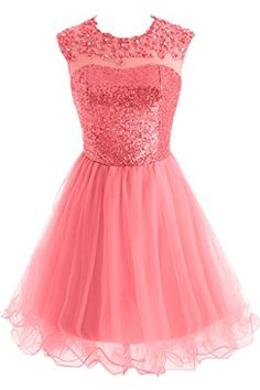 Sunvary Junior Sweety 16 Homecoming Dresses Party Dress Short Size 2 Watermelon >>> To view further for this item, visit the image link.