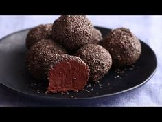 Heres a bite-sized treat with big crave-worthy flavor. Black beans add protein to each morsel made extra creamy by almond butter and coconut oil. The post Black Bean Brownie Bites Recipe appeared first on Dessert Factory. Vegan Sweets, Vegan Desserts, Healthy Desserts, Just Desserts, Vegan Recipes, Healthy Foods, Brownie Desserts, Brownie Recipes, Paleo Dessert