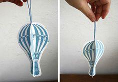 Des montgolfières à imprimer