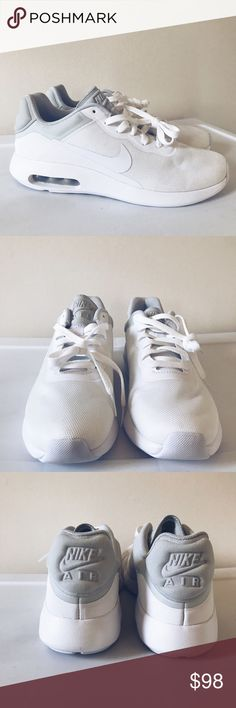 Nike Air Max Modern Essentials in White SZ 8 NWOB Brand new without box Nike Air Max Modern Essential in white. Men's size 6 which is women's size 8 Never worn Inventory Number On Sole - Pet & Smoke Free Home - Ship Every 1-2 Days Item Number: R4N2S30 Nike Shoes Sneakers