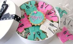 Scrubs cookies!!!!  These are so cute for nurses or doctors with their little stethoscopes.