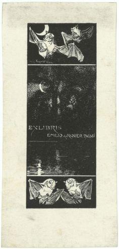 Ex-libris Emilio de Riquer Palau Ex Libris, Character, Art, National Museum, Art Background, Kunst, Performing Arts, Lettering, Art Education Resources