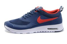 Nike Air Max Thea Print Mens Shoes 2014 New Releases Blue Red, $81.77 | www.sneakerswholesaler.com