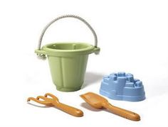 Our favorite sand toy set: All made from recycled milk jugs!