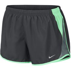 Nike Solid Running Shorts - Green - Size X-small - Women's -... ($30) ❤ liked on Polyvore featuring shorts and nike