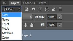 Search For Layers in Photoshop