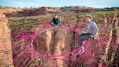 The adrenaline junkie group the Moab Monkeys concocted the spider web-like creation, a 2,000 sq. ft. pentagon-shaped hammock suspended 400 feet above the rocky desert floor of the Moab Desert.