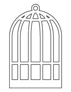 Bird cage pattern. Use the printable outline for crafts, creating stencils, scrapbooking, and more. Free PDF template to download and print at http://patternuniverse.com/download/bird-cage-pattern/