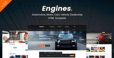 nice Engines - Automotive, Motor Automobiles, Car Dealership Responsive Web site Template (Enterprise)