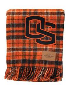 Oregon State tartan blanket
