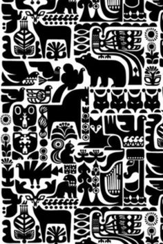 Finnish print design inspired by The Kalevela.