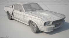 Illés Gábor 08 - Ford Mustang GT500 Eleanor wireframe