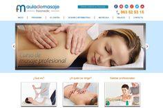 www.aulademasaje.com. Uno de nuestros últimos trabajos. Web hecha en Joomla con formulario de inscripción para poder realizar la matrícula online.