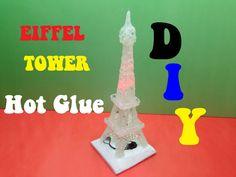 How to make a EIFFEL TOWER with hot glue - Life hacks HOT Glue - DIY - EIFFEL TOWER Made From Hot Glue - DIY TORRE EIFFEL PARA DECORAR TU CUARTO
