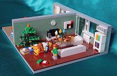 Lego house at Christmas 2