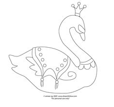Free pattern for Swan Princess (Charlotte would adore doing this one!)