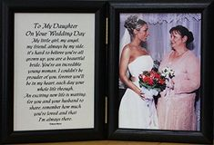 Product Hinged Double Oak Black Photo/Picture/Poem FRAME ~ Poem Reads: To My Daughter On Your Wedding Day ~ My little girl, my angel, my fri Best Man Wedding Speeches, Wedding Poems, Wedding Day Gifts, Bride Gifts, On Your Wedding Day, Wedding Cards, Dream Wedding, Wedding Stuff, Wedding Blessing