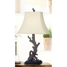 Rustic table lamp
