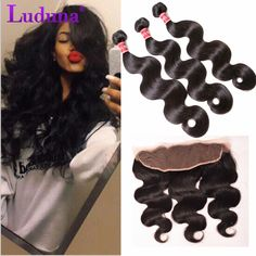 13x4 Ear To Ear Lace Frontal Closure With Bundles Brazilian Virgin Hair With Closure Brazilian Body Wave Human Hair With Closure //Price: $101.48 & FREE Shipping //     #hairextension #style #beauty #woman #love