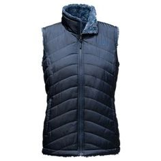 The North Face Mossbud Swirl Reversible Vest for Ladies - Cosmic Blue/Shady Blue - S