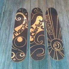 Three Custom Kopasetic Griptapes, Starry Nite deck, Blue Octo Ring Deck, & Neon Waves Deck