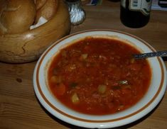 Krauteintopf Sauerkraut, Chili, Salsa, Soup, Bunt, Mexican, Ethnic Recipes, Soups And Stews, Stew