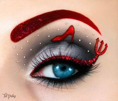 Fashion - Modern Eye Make-up Art - New Mhendi Designs & Fashion Crazy Eye Makeup, Creative Makeup Looks, Beautiful Eye Makeup, Eye Makeup Art, Colorful Eye Makeup, Eye Art, Cute Makeup, Eyeshadow Makeup, Makeup Stuff