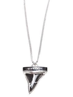 GIVENCHY sharks tooth pendant necklace