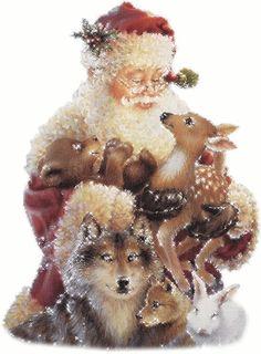 Christmas Scenes, Noel Christmas, Father Christmas, Vintage Christmas Cards, Christmas Pictures, Christmas Greetings, Winter Christmas, Gif Noel, Preppy Christmas