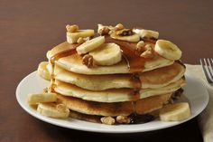 Banana, Walnut, and Golden Flaxseed Buckwheat Pancakes: This breakfast is a health-packed, disease-fighting machine in one nutty recipe.