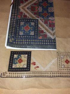 Bohemian Rug, Cross Stitch, Rugs, Crafts, Decor, Punto Croce, Farmhouse Rugs, Dekoration, Punto De Cruz