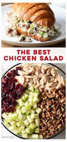 Chicken Salad Recipes, Salad Chicken, Chicken Salad Recipe With Pecans, Chicken Salad With Cranberries, Chicken Salad Healthy, Best Chicken Recipes, Pecan Chicken Salads, Homemade Chicken Salad Recipe Easy, Recipes With Almonds
