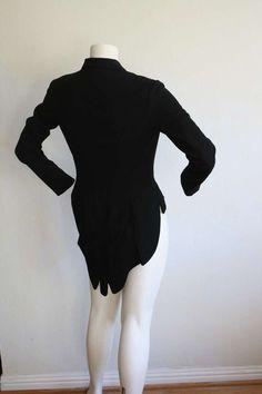 Thierry Mugler Vintage Black Tuxedo Tail Blazer Jacket