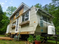 Tiny House Big Living, Tiny House Swoon, Tiny House Plans, Tiny House On Wheels, Rv Living, Tiny Cabins, Cabins And Cottages, Tiny House Appliances, Tiny Trailers