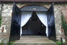 Welcoming drapes at Monks Barn Hurley