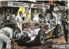 En 1938, Rudolf Caracciola, con Mercedes Benz W154, gana la Copa Acerbo en el Circuito di Pescara.
