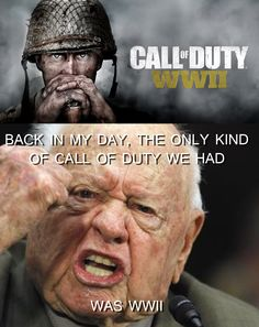 "saw ""call of duty: ww2"" and it made me feel old."